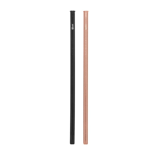 Cheeki Reusable Straight Straw (Black & Rose Gold) - 2 pack