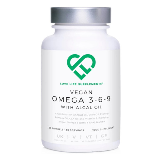 Love Life Supplements Vegan Omegas 3-6-9 - 60 Soft Gels