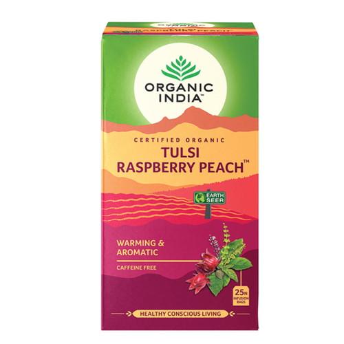 Organic India Tulsi Raspberry Peach Tea - 25 Teabags