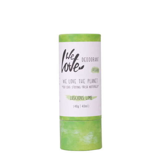 We Love The Planet Natural Vegan Deodorant Stick (Luscious Lime) - 48g