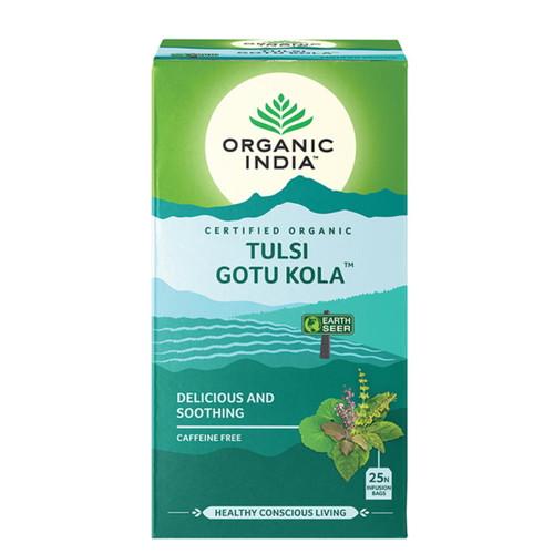 Organic India Tulsi Gotu Kola Tea - 25 Tea Bags