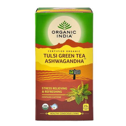 Organic India Tulsi Green Ashwagandha Tea - 25 Teabags