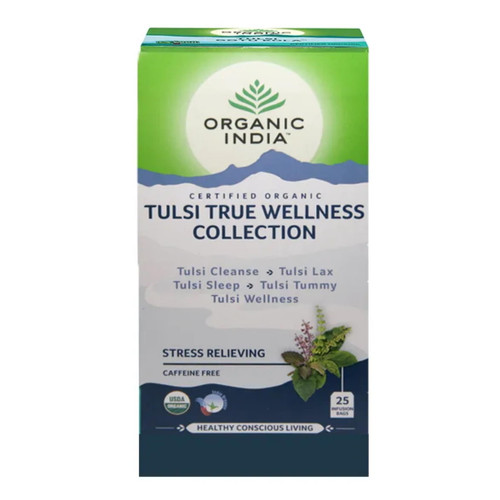 Organic India Tulsi Wellness Variety Collection - 25 Tea Bags