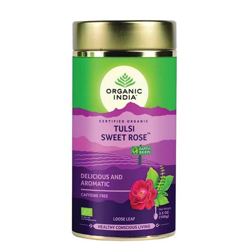 Organic India Tulsi Sweet Rose Loose Tea - 100g