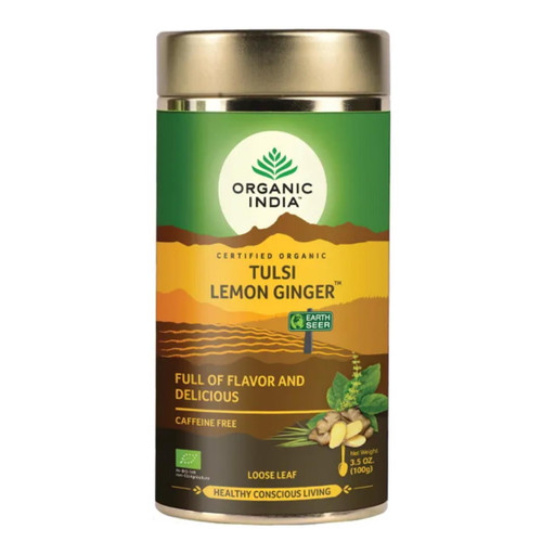 Organic India Tulsi Lemon Ginger Loose Tea - 100g
