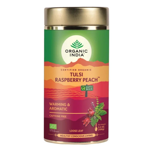 Organic India Tulsi Raspberry Peach Loose Tea - 100g