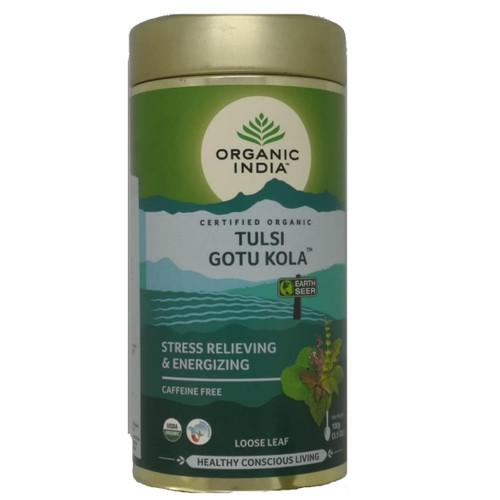 Organic India Tulsi Gotu Kola Loose Tea - 100g