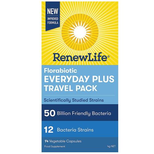 Renew Life Florabiotic Everyday Plus Travel 50 Billions - 14 capsules