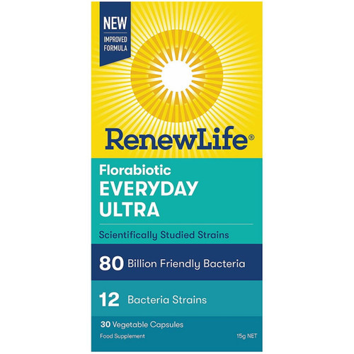 Renew Life Florabiotic Everyday Ultra 80 Billions - 30 capsules