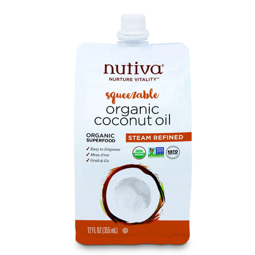 Nutiva Organic Refined Coconut Oil Pouch - 355ml