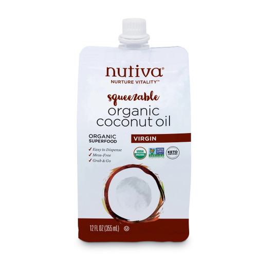 Nutiva Organic Virgin Coconut Oil Pouch - 355ml