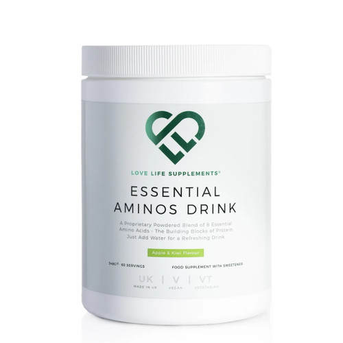 Love Life Supplements Essential Aminos Drink (Apple & Kiwi) - 342g