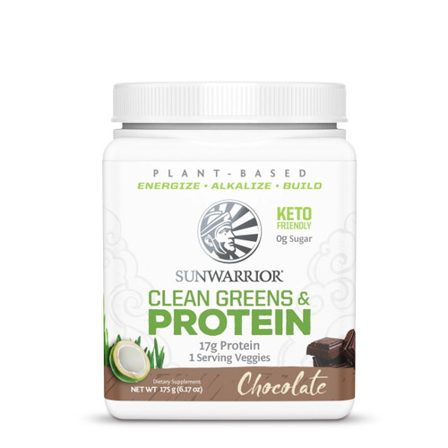 Sunwarrior Clean Greens Protein Chocolate - 175g