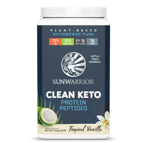 Sunwarrior Clean Keto Tropical Vanilla - 720g