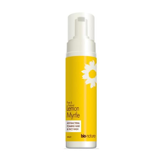 Bio-Nature Lemon Myrtle Anti-Bacterial Foaming Hand & Face Wash - 200ml
