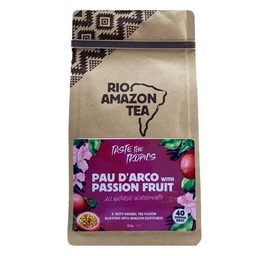 Rio Amazon Pau D'Arco & Passion Fruit Tea - 40 Bags