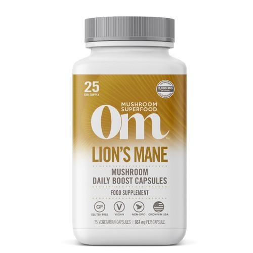 Om Organic Mushroom Nutrition Lion's Mane - 75 capsules