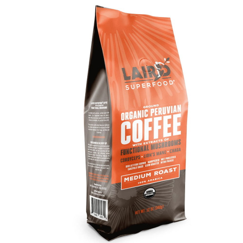 Laird Medium Roast Ground Organic Coffee with Mushrooms - 340g