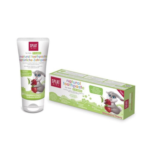 Splat Natural Fruit Strawberry & Cherry Toothpaste For Kids (ages 2 - 6) - 55ml