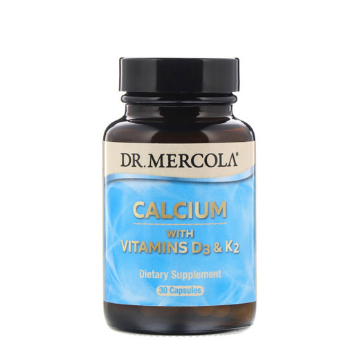 Dr Mercola Calcium with Vitamins D & K2 - 30 capsules