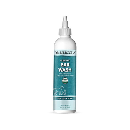 Dr Mercola Organic Pets Ear Wash - 236ml