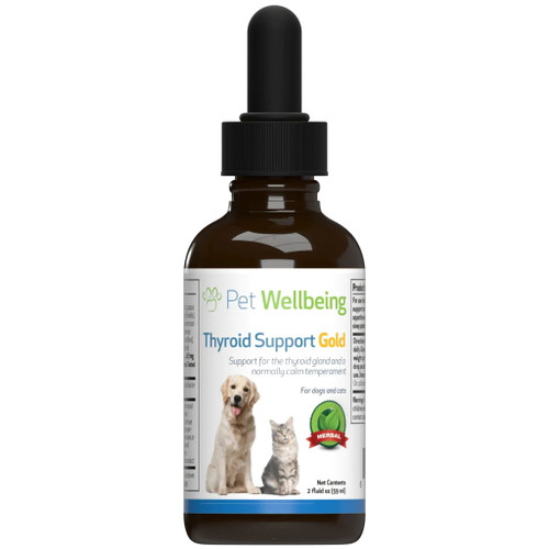 Pet Wellbeing Thyroid Support Gold for Cats and Dogs - 59ml