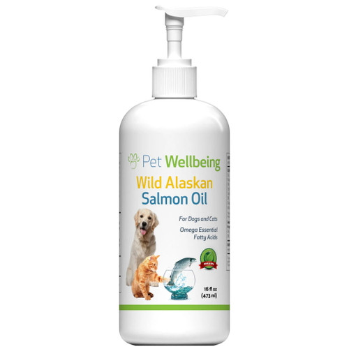 Pet Wellbeing Wild Alaskan Salmon Oil for Cats and Dogs - 473ml