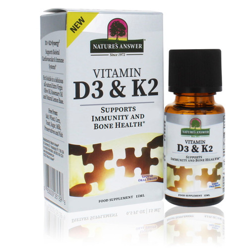 Nature's Answer Vitamin D3 and K2 - 15ml