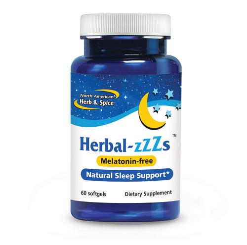 North American Herb & Spice Herbal-zzZs (Melatonin free) - 60 softgels