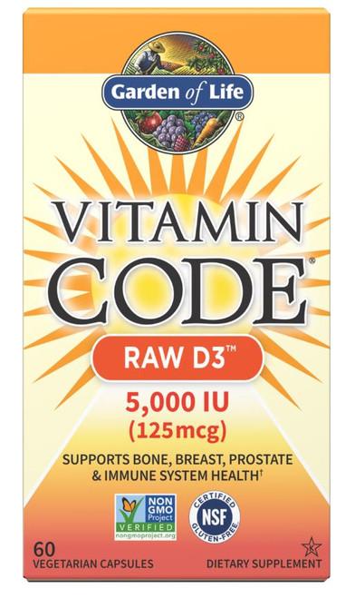 Garden of Life Vitamin Code Raw D3 5,000IU - 60 Capsules