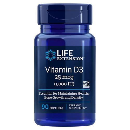 Life Extension Vitamin D3 1000iu - 90 softgels