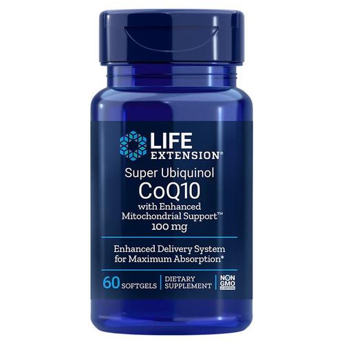 Life Extension Super Ubiquinol CoQ10 100mg with Enhanced Mitochondrial Support- 60 softgels