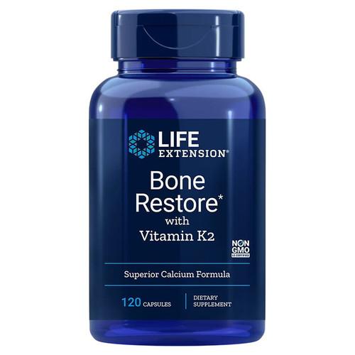 Life Extension Bone Restore with Vitamin K2 - 120 capsules