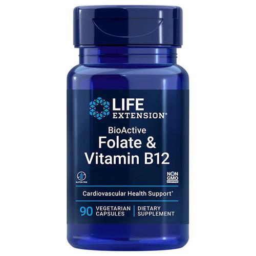 Life Extension BioActive Folate & Vitamin B12 - 90 capsules