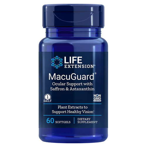 Life Extension MacuGuard Ocular Support with Astaxanthin - 60 softgels