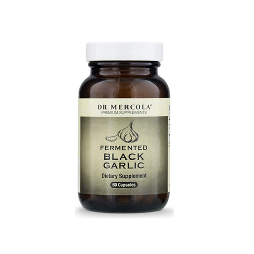 Dr Mercola Fermented Black Garlic - 60 capsules