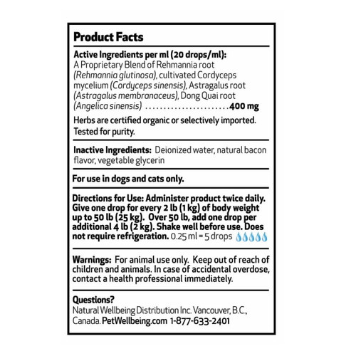 Pet Wellbeing Life Gold for Cats and Dogs - 118ml