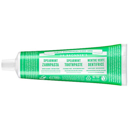 Dr Bronner's Fluoride Free Spearmint Toothpaste - 105ml