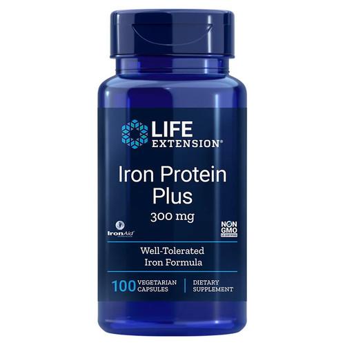 Life Extension Iron Protein Plus 300mg - 100 capsules