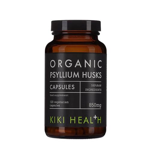 Kiki Health Organic Psyllium Husks - 120 capsules