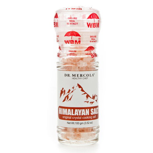 Dr Mercola Himalayan Cooking Salt with Grinder - 100g
