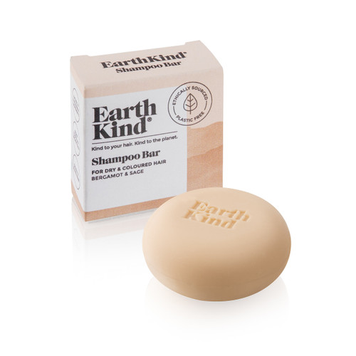 Earth Kind Bergamot and Sage Shampoo Bar (Dry and Coloured Hair) - 50g
