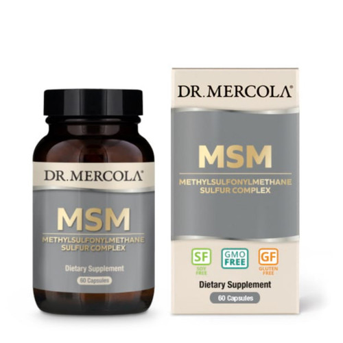 Dr Mercola MSM with Organic Sulfur Complex - 60 capsules