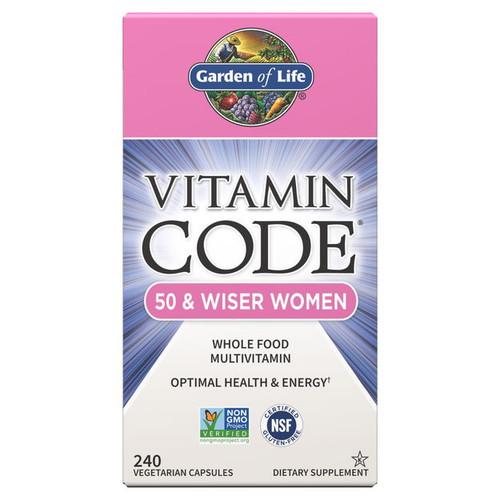 Garden of Life Vitamin Code 50 & Wiser Women - 240 capsules