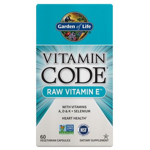 Garden of Life Vitamin Code RAW Vitamin E - 60 capsules