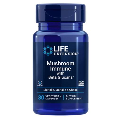 Life Extension Mushroom Immune with Beta Glucans - 30 capsules