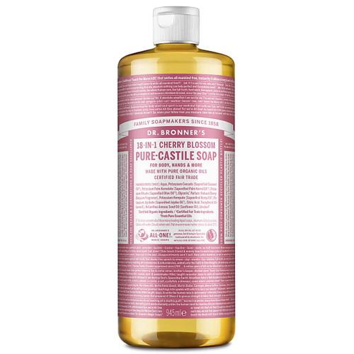 Dr Bronner's Organic Cherry Blossom Liquid Soap - 945ml