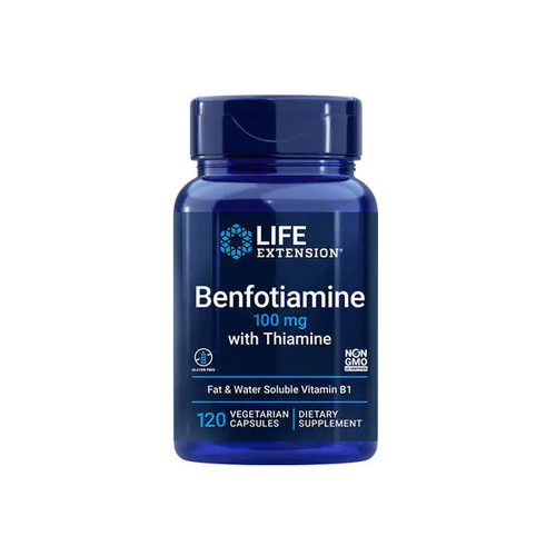 Life Extension Benfotiamine with Thiamine 100mg - 120 capsules