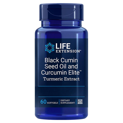 Life Extension Black Cumin Seed Oil & Curcumin Elite Turmeric Extract - 60 softgels