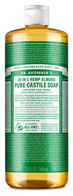 Dr Bronner's Organic Hemp Almond Liquid Soap - 946ml